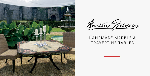 Ancient Mosaics - Handmade Marble & Travertine Tables